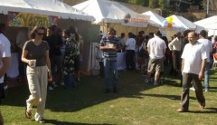 Patrons enjoying the food at the festival: Derek Barry