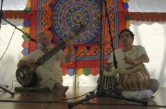 Providing the entertainment at Krishna Birthday festival: GWP Studio (with permission from Taraka Sticha)