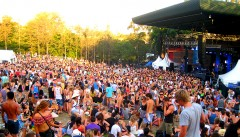 The Riverstage crowd at Parklife in Brisbane, before hitting spectator capacity