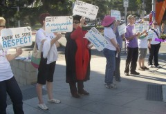 NTEU members strike at QUT Kelvin Grove campus: Derek Barry