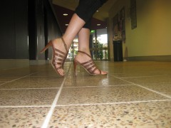 High heels are causing a disruption around QUT.