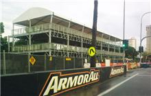 Construction for the Armor All Gold Coast 600 is underway. Source: Kayla Brereton