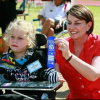 Athletics carnival for children with a disability