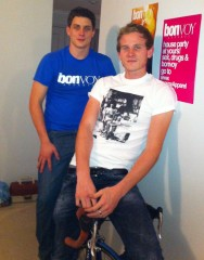 From left: Cameron Scott and Calum Shand, Bonvoy Apparel designers. Photo: Calum Shand