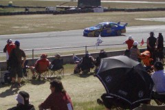 Crowds beside the track at the V8 Supercars were sparse this year