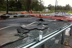 Residents are annoyed the road was destroyed so easily. Source: ABC News